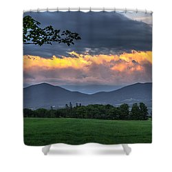 Reverse Sunset Shower Curtain