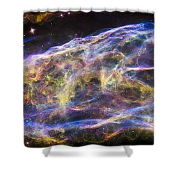 Shower Curtain featuring the photograph Revisiting The Veil Nebula by Adam Romanowicz