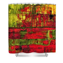 Summer Rain  - Abstract Colorful Mixed Media Painting Shower Curtain