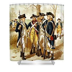 Revolutionary War Infantry Shower Curtain by War Is Hell Store