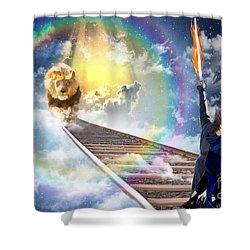 Reward Shower Curtain by Dolores Develde