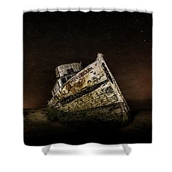 Shower Curtain featuring the photograph Reyes Shipwreck by Everet Regal