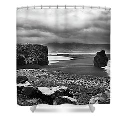 Reynisfjara Shower Curtain by Wade Courtney