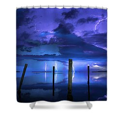Blue Nights Shower Curtain