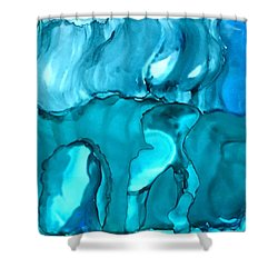 Rhabsody In Blue Shower Curtain