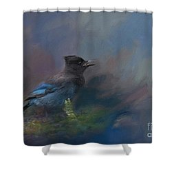 Rhapsody In Blue Shower Curtain