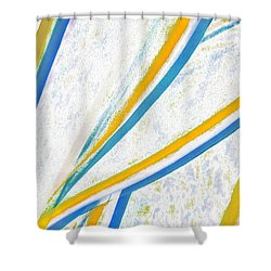 Shower Curtain featuring the digital art Rhapsody In Leaves No 1 by Ben and Raisa Gertsberg
