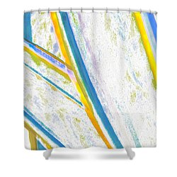 Shower Curtain featuring the digital art Rhapsody In Leaves No 2 by Ben and Raisa Gertsberg
