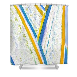 Shower Curtain featuring the digital art Rhapsody In Leaves No 3 by Ben and Raisa Gertsberg