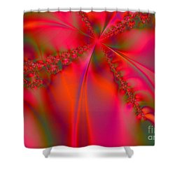 Rhapsody In Red Shower Curtain by Robert ONeil