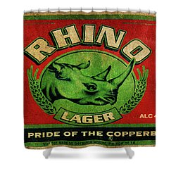 Rhino Lager Shower Curtain