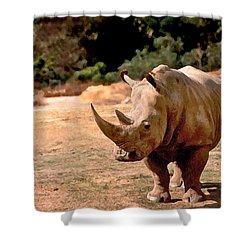 Rhino Shower Curtain