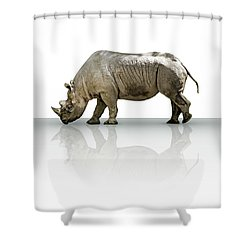 Rhinoceros Shower Curtain