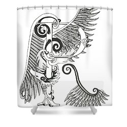 Rho Eagle Shower Curtain