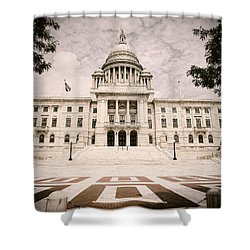 Rhode Island State House Shower Curtain by Lourry Legarde