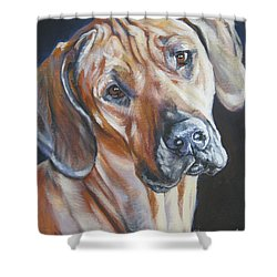 Rhodesian Ridgeback Shower Curtain by Lee Ann Shepard