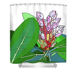 Rhododendron Graphic Shower Curtain