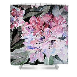 Rhododendron Rose Shower Curtain