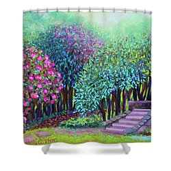 Rhododendrons In The Sunken Garden Shower Curtain