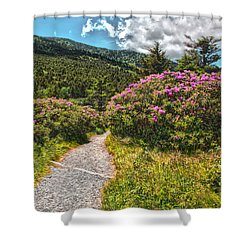 Rhododendrons On The At Shower Curtain