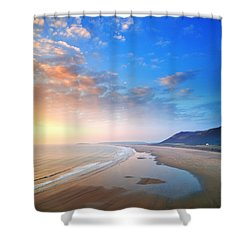 Rhosili 2 Shower Curtain