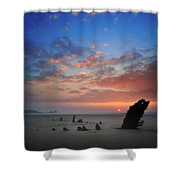 Rhosili 3 Shower Curtain