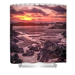 Rhosneigr Beach At Sunset Shower Curtain