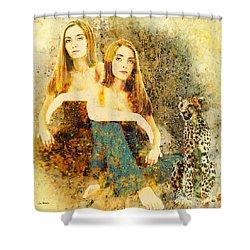Rhyme Shower Curtain by Van Renselar