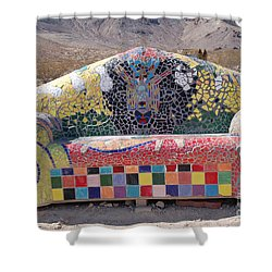 Shower Curtain featuring the photograph Rhyolite Sofa by Walter Chamberlain