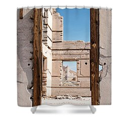 Rhyolite Through Windows Shower Curtain