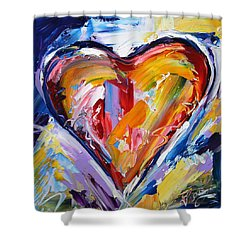 Rhythm Of Love  Shower Curtain