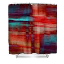 Rhythmic Stripes Shower Curtain