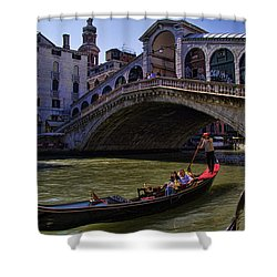 Rialto Bridge In Venice Italy Shower Curtain