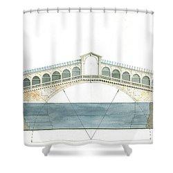 Rialto Bridge Venice Shower Curtain