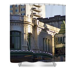Rialto Tacoma Shower Curtain by Cathy Anderson