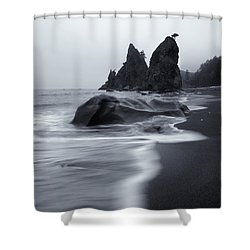 Rialto View Shower Curtain by Mike  Dawson