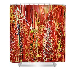 Rib Cage Shower Curtain