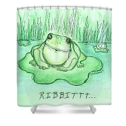 Ribbittt.... Shower Curtain