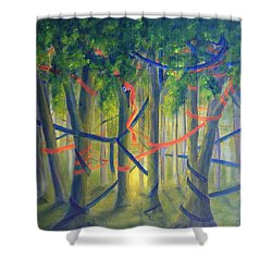 Ribbon Dance Shower Curtain