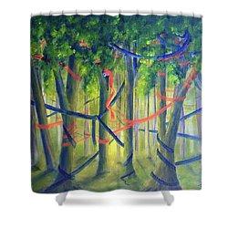 Ribbon Dance Shower Curtain
