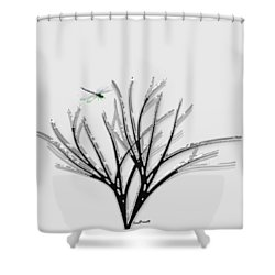 Ribbon Grass Shower Curtain by Asok Mukhopadhyay