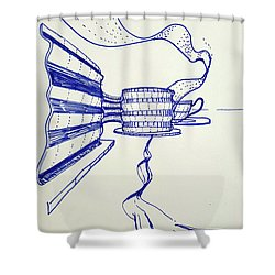Ribbons Shower Curtain