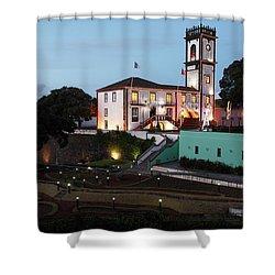 Ribeira Grande Town Hall Shower Curtain by Gaspar Avila