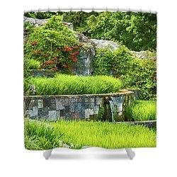 Rice Garden Shower Curtain by Wim Lanclus