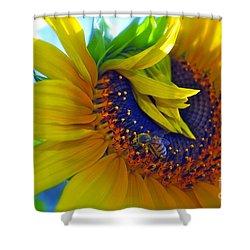 Rich In Pollen Shower Curtain
