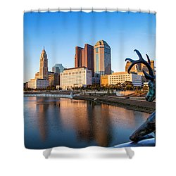 Rich Street Bridge Columbus Shower Curtain