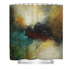 Rich Tones Abstract Painting Shower Curtain