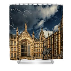 Shower Curtain featuring the photograph Richard The Lionheart by Adrian Evans