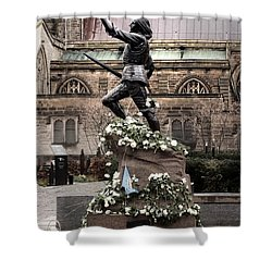 Richard The Third Statue Shower Curtain