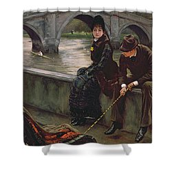 Richmond Bridge Shower Curtain by James Jacques Joseph Tissot
